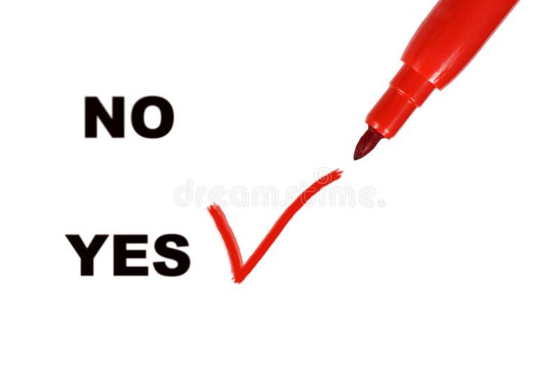 Sim e No. imagem de stock royalty free