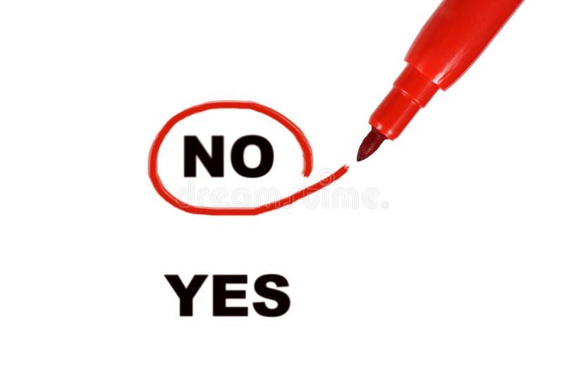 Sim e No. foto de stock