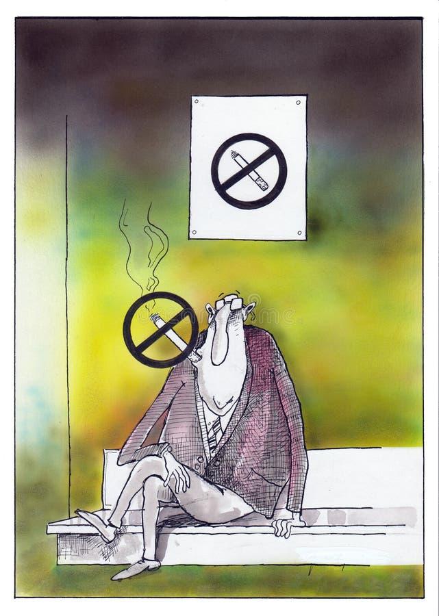 Sim fumando ilustração stock