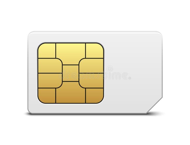 SIM-Karte stock abbildung