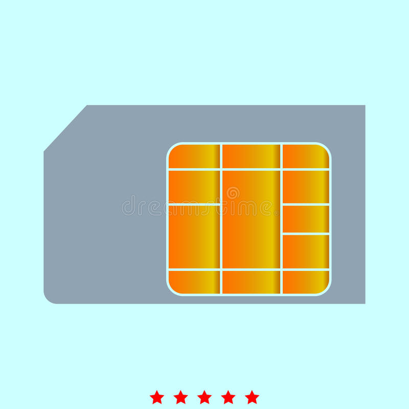 SIM-Karte ist es Ikone vektor abbildung