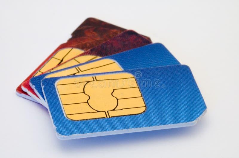 Sim Karten lizenzfreies stockfoto