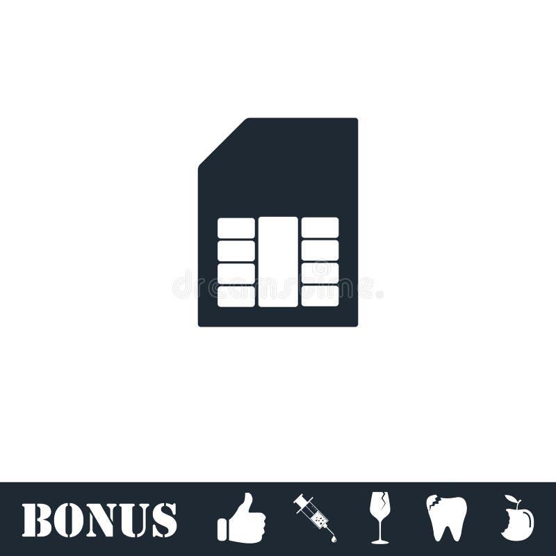 Sim karty ikony mieszkanie royalty ilustracja