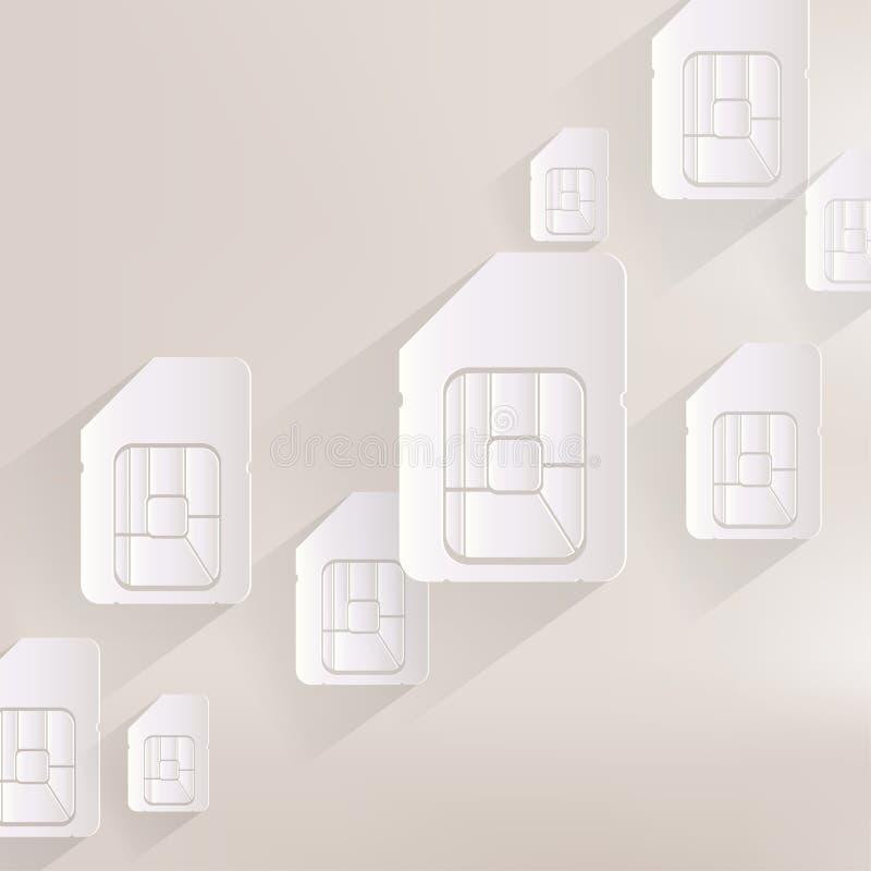 Sim karty sieci ikona ilustracji