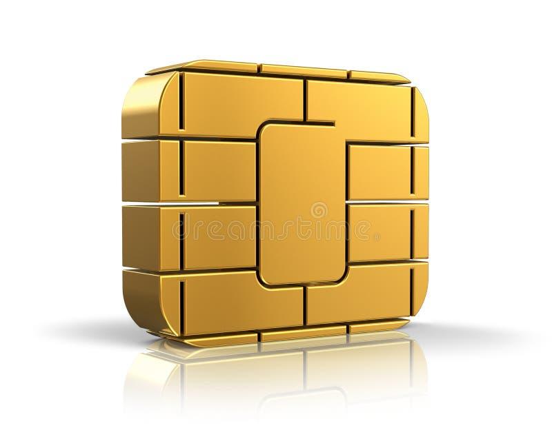 SIM-kort- eller kreditkortbegrepp royaltyfri illustrationer