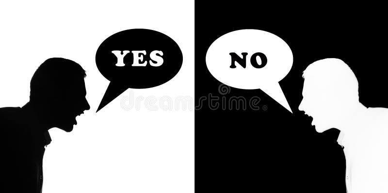 Sim & não ilustração do vetor