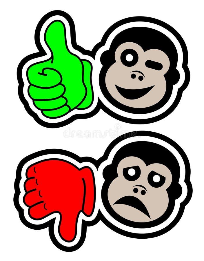 Sim nenhum macaco ilustração stock