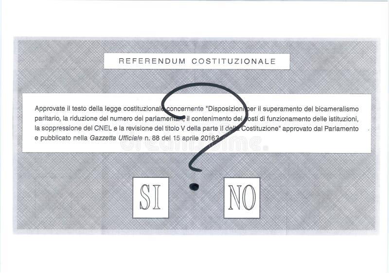 SIM NENHUMA cédula TALVEZ italiana fotos de stock