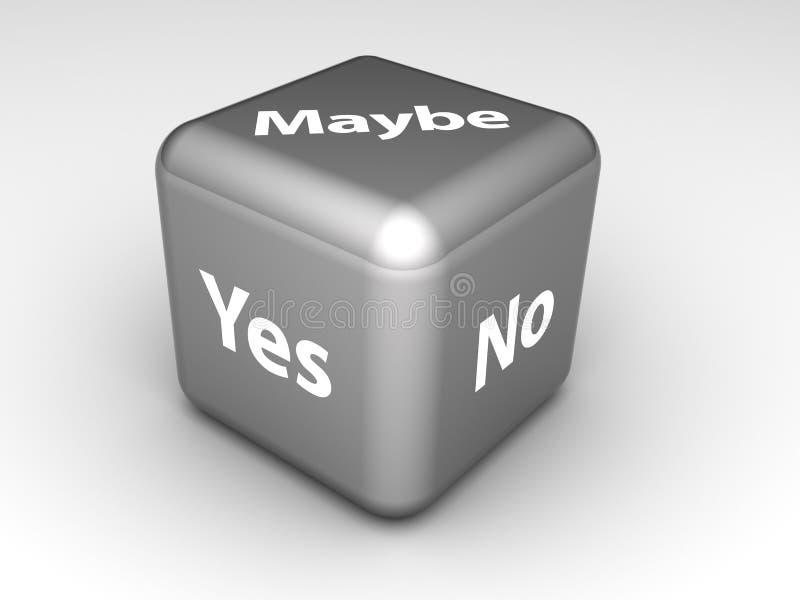 Sim, o No., corta talvez ilustração stock