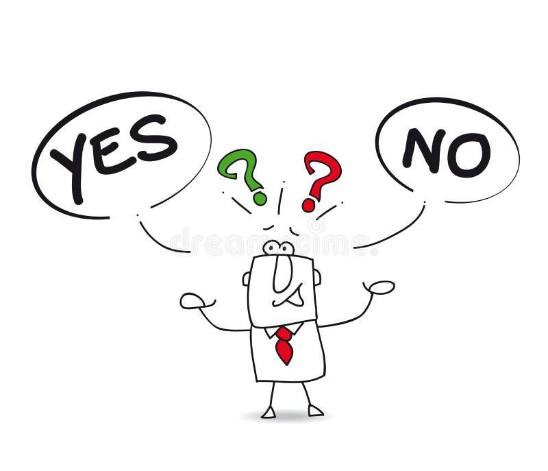Sim ou não ilustração do vetor