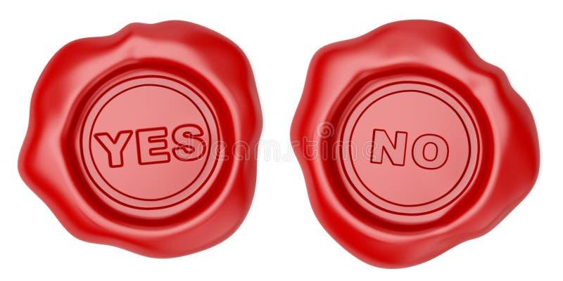 Sim ou No. ilustração royalty free
