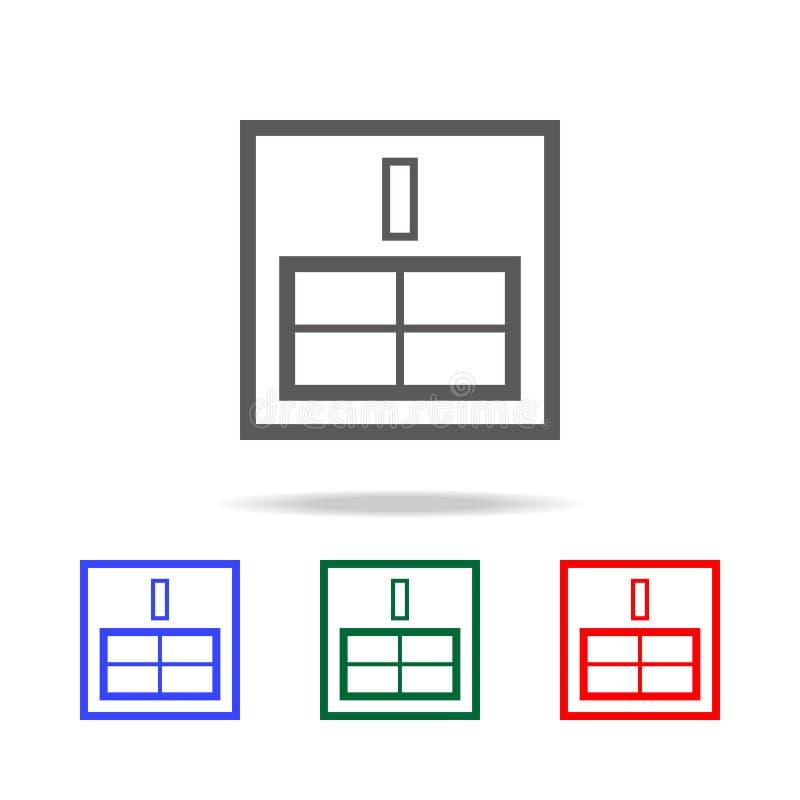 SIM-pictogram van de kaart het dunne lijn Elementen in multi gekleurde pictogrammen voor mobiel concept en Web apps Pictogrammen  stock illustratie