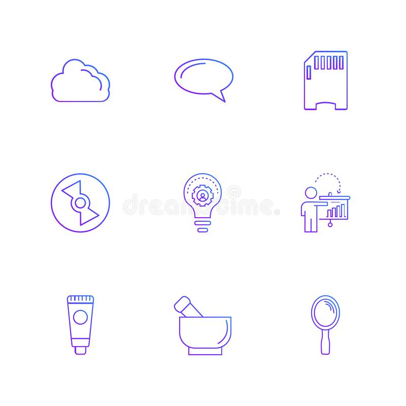 sim, pomysł, lustro, pomysł, internet, technologia, narzędzia royalty ilustracja