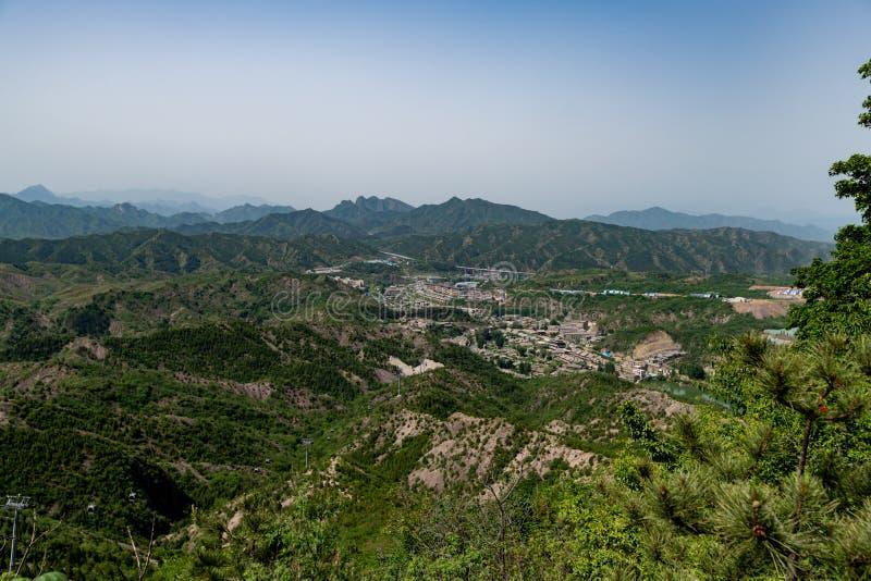 Simatai wielki mur blisko do gubei wody miasteczka w Pekin Chiny, G obraz royalty free