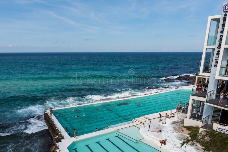 Simbassäng för Bondi strandisberg royaltyfria foton