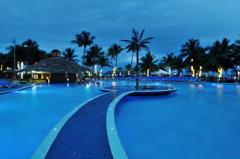 Semesterort i Bahamas royaltyfria foton