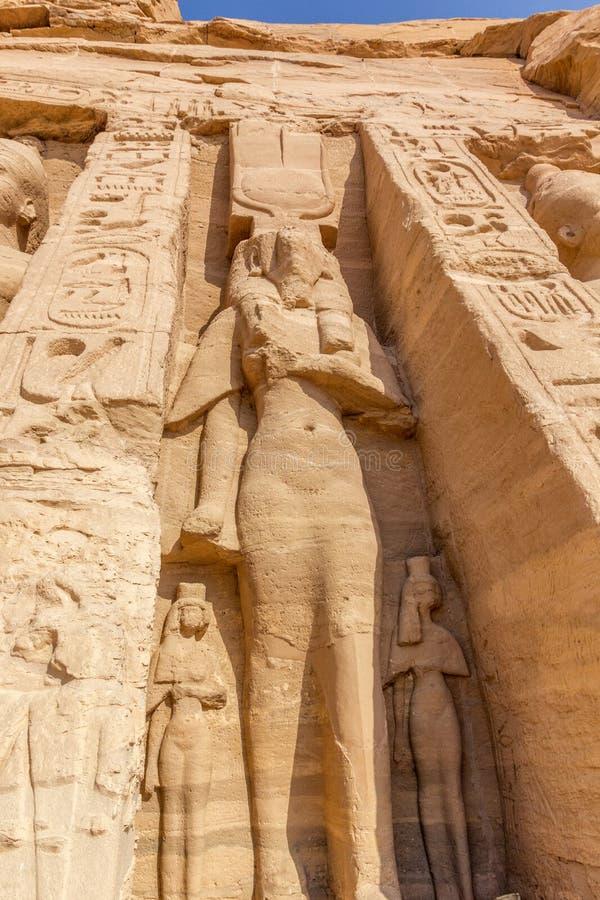 Simbel d'abu de Hathor images stock