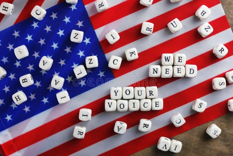 Simbol da eleição na bandeira dos EUA imagem de stock royalty free