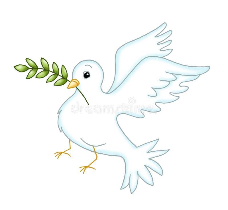 Simbol della colomba di pace royalty illustrazione gratis
