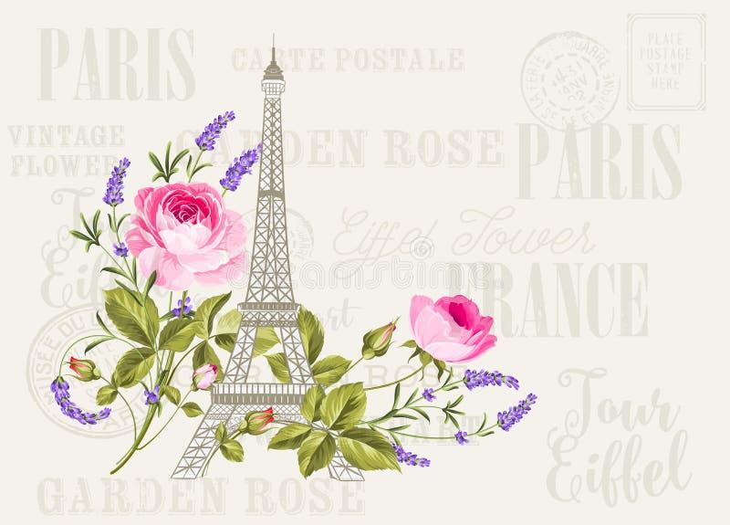 Simbol della torre Eiffel illustrazione di stock