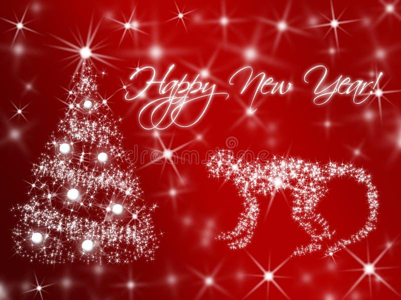 Simbol neuen Jahres 2016 durch chinesischen Kalender Roter brennender Affe stock abbildung