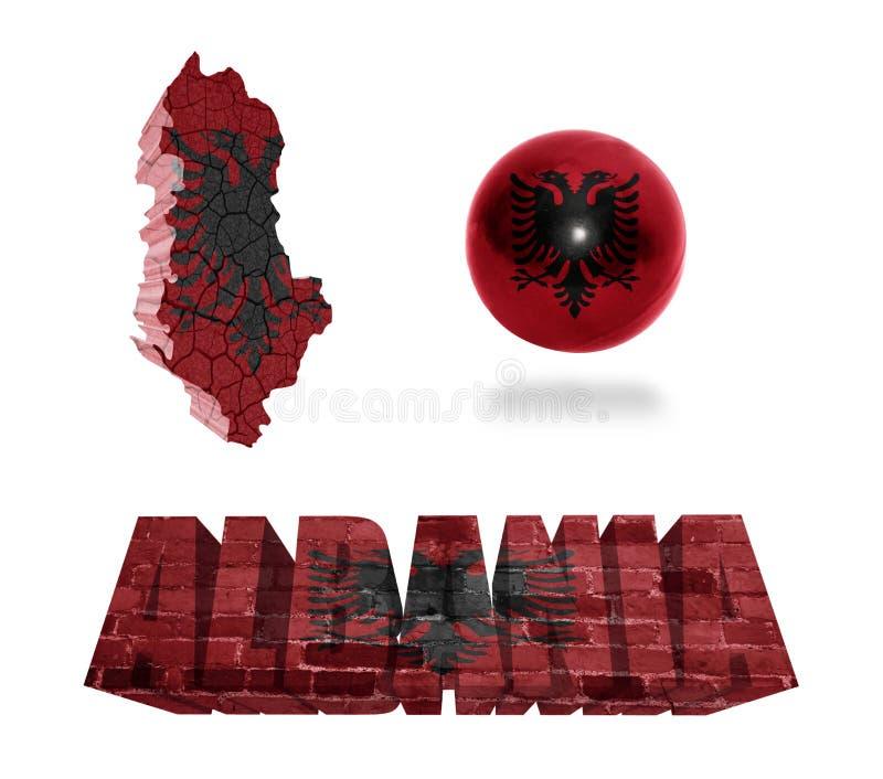 Simboli albanesi illustrazione vettoriale