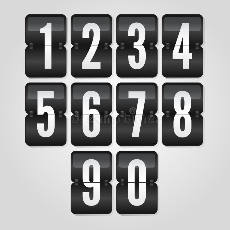 simboli in bianco e nero di vibrazione di pendenza, vettore del tabellone segnapunti royalty illustrazione gratis