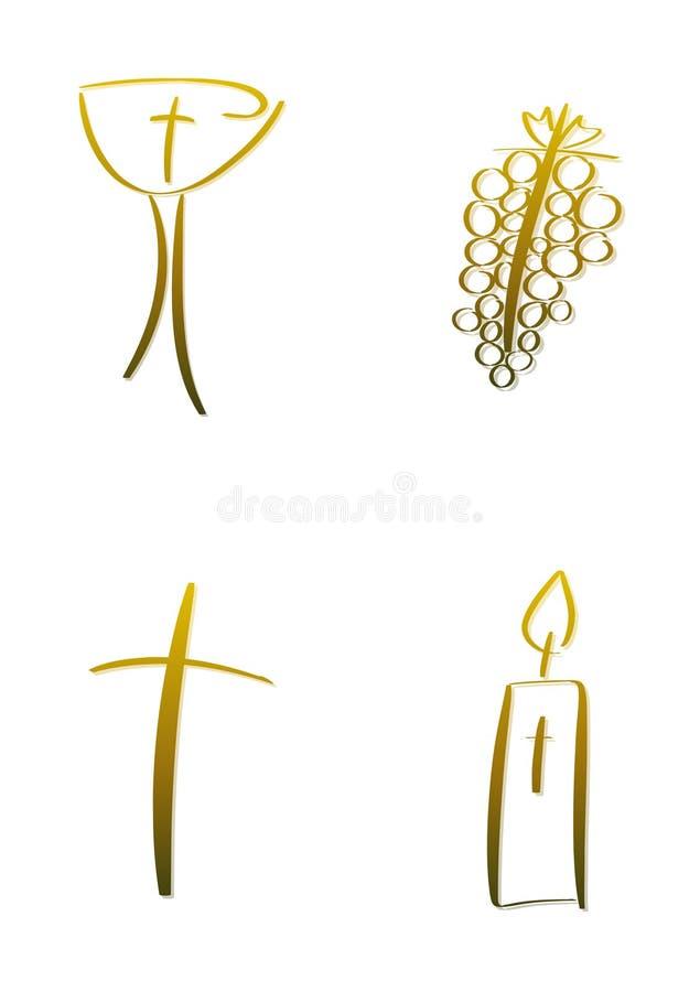 Simboli cristiani royalty illustrazione gratis