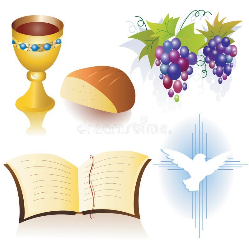 Simboli cristiani illustrazione vettoriale