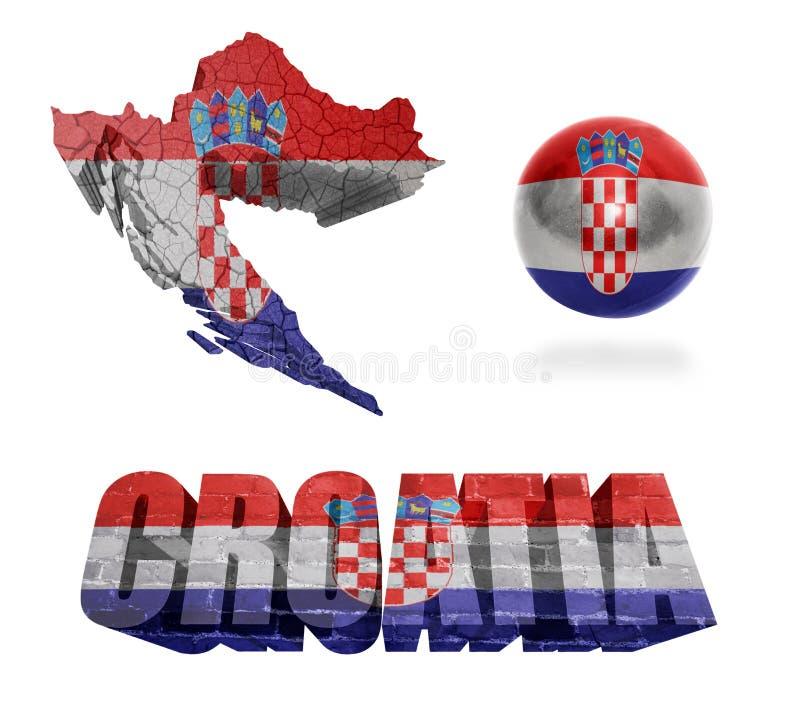 Simboli croati illustrazione di stock