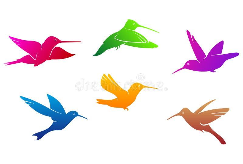 Simboli dei colibrì illustrazione vettoriale