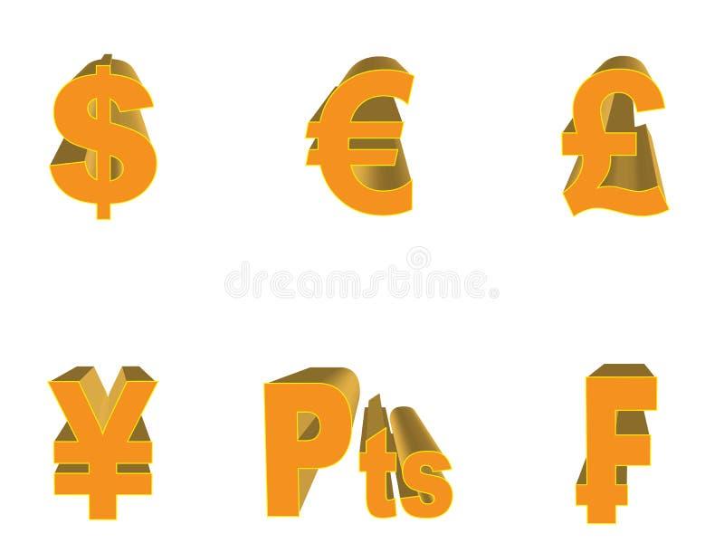 Download Simboli dei soldi illustrazione vettoriale. Illustrazione di segno - 7321786