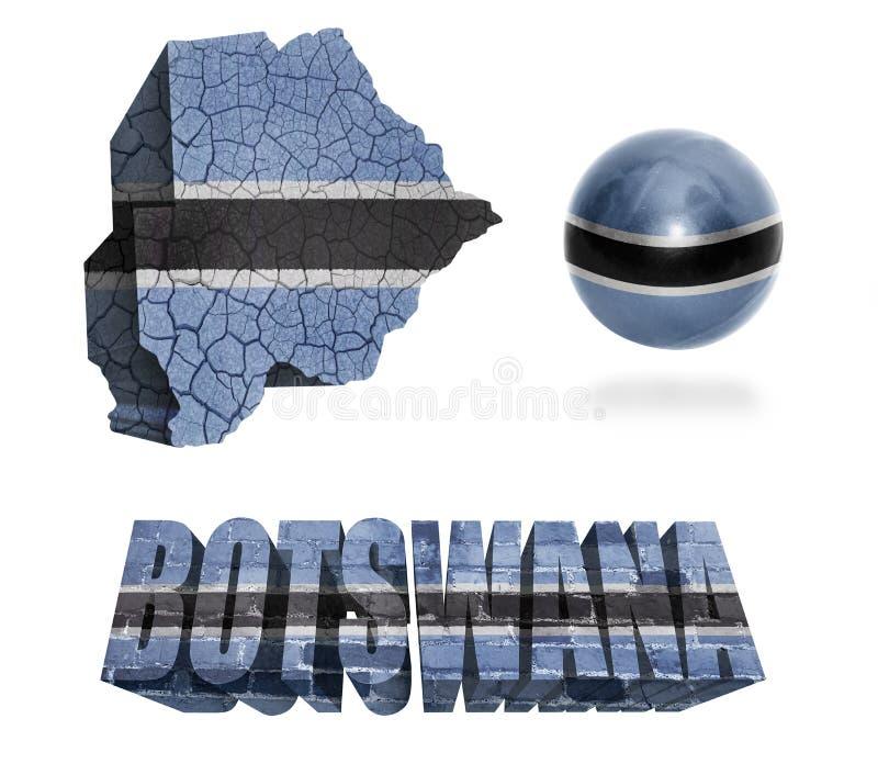 Simboli del Botswana illustrazione di stock