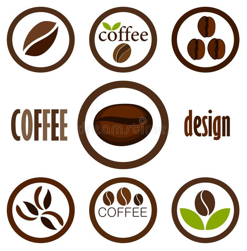 Simboli del caffè illustrazione di stock