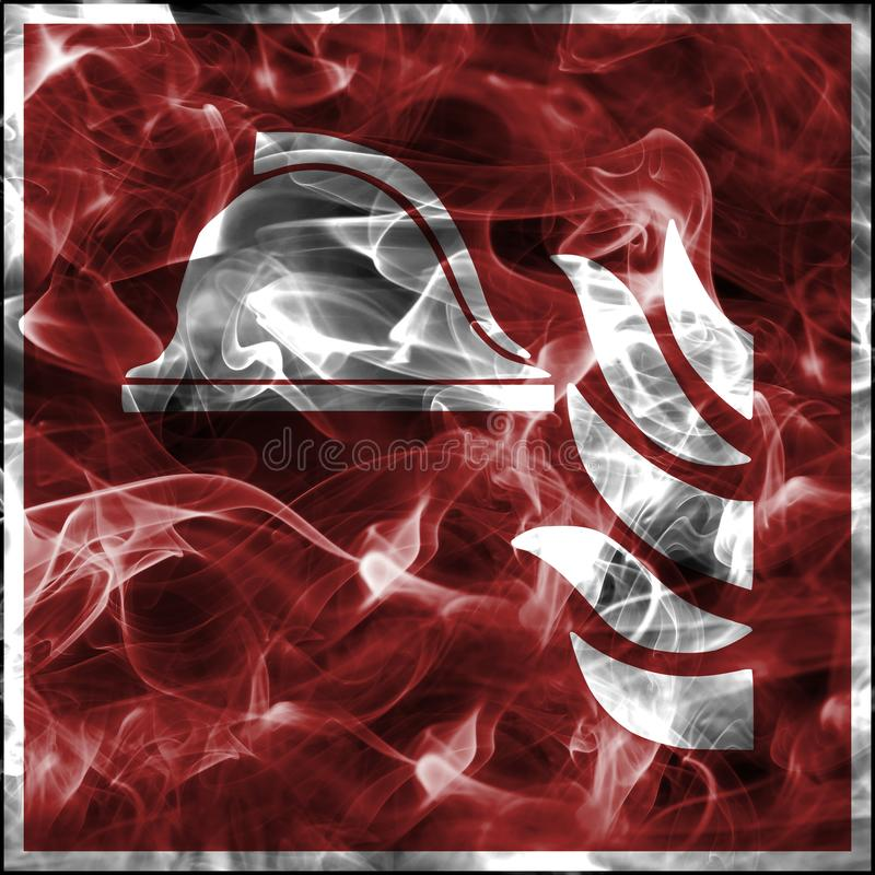 Simboli del fumo di emergenza per attrezzatura antincendio Segno standard di protezione antincendio illustrazione di stock