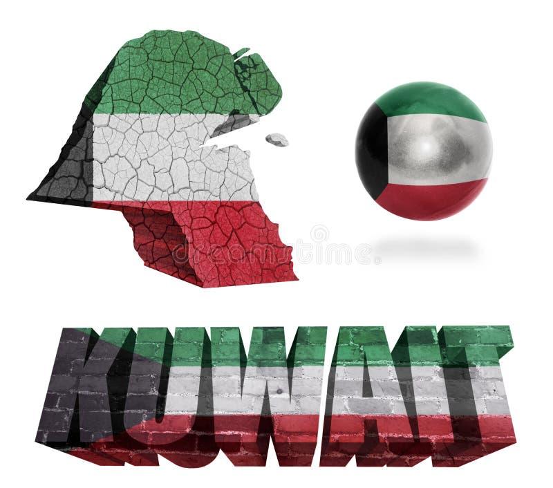 Simboli del Kuwait illustrazione vettoriale