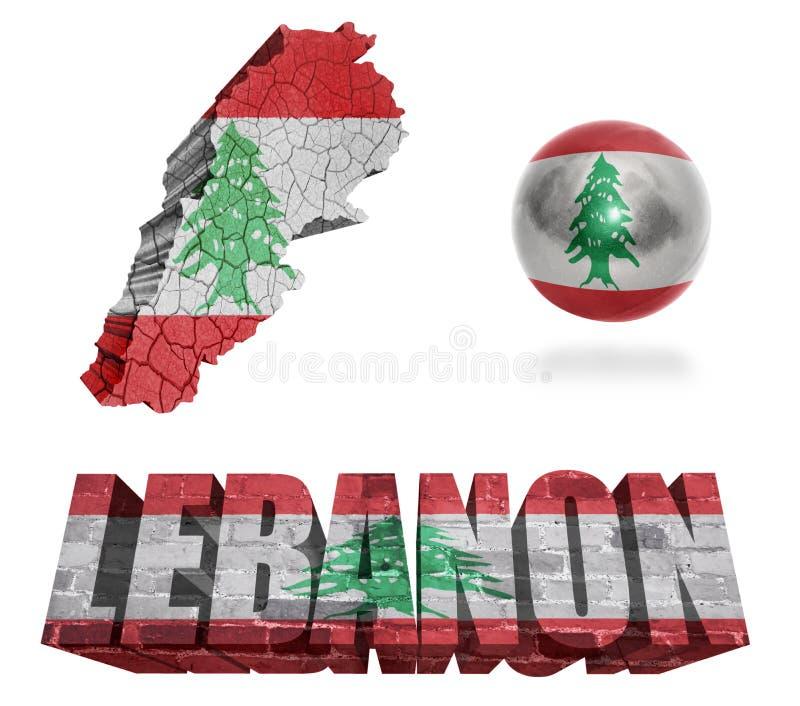 Simboli del Libano illustrazione vettoriale