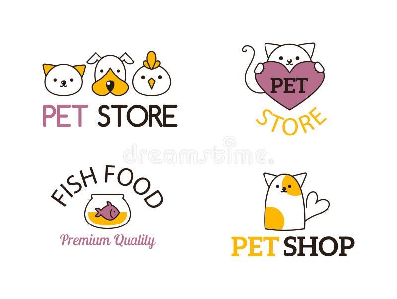 Simboli del negozio di animali illustrazione vettoriale