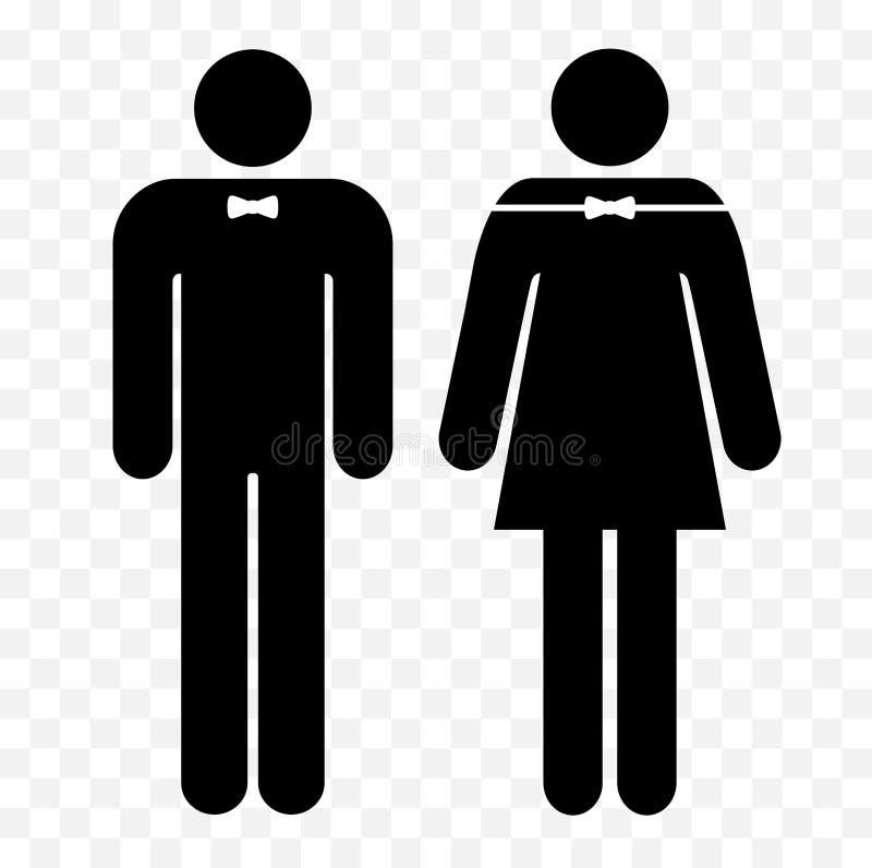 Simboli del wc uomini della toilette e segni delle donne for Bagno uomini e donne