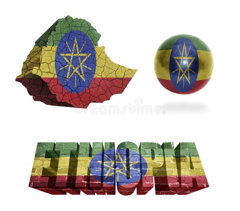 Simboli dell'Etiopia illustrazione vettoriale