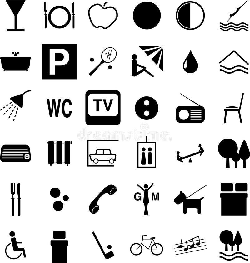 Simboli dell'hotel royalty illustrazione gratis