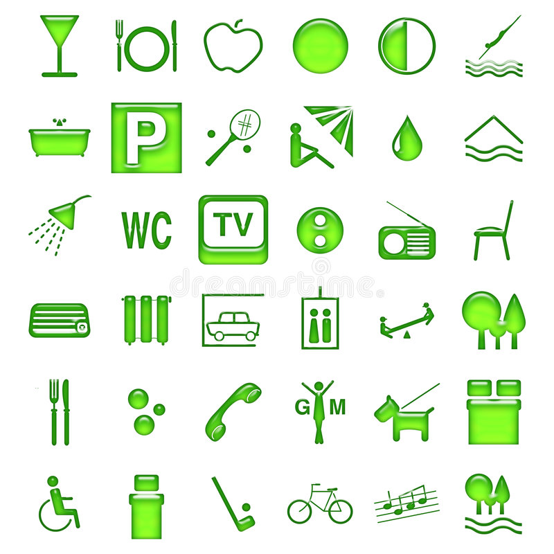 Simboli dell'hotel illustrazione di stock