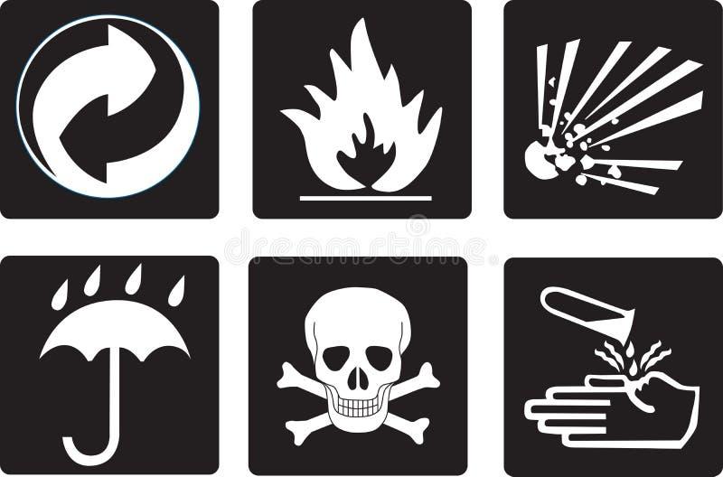 Simboli dell'imballaggio fotografia stock