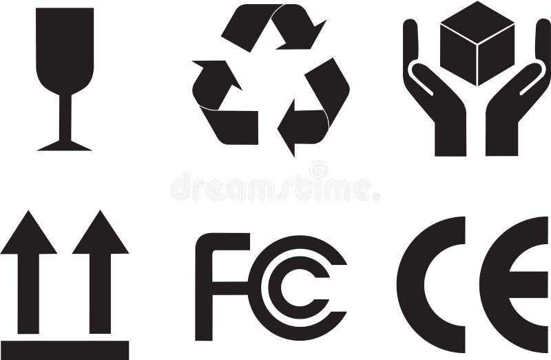Simboli dell'imballaggio royalty illustrazione gratis