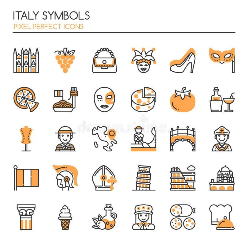 Simboli dell'Italia illustrazione vettoriale