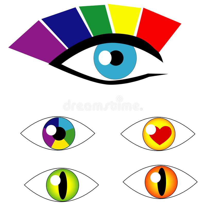 Simboli dell'occhio di vettore illustrazione di stock