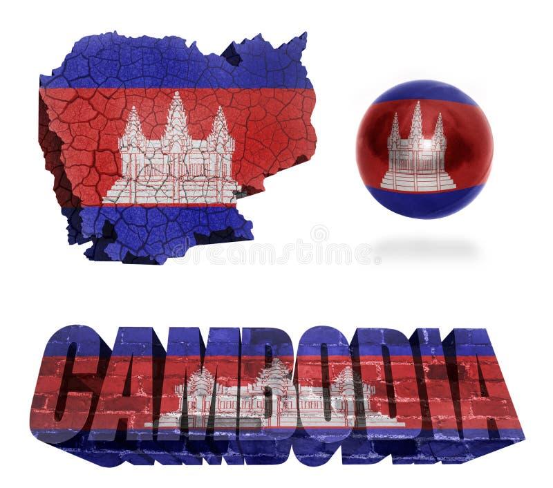 Simboli della Cambogia illustrazione di stock