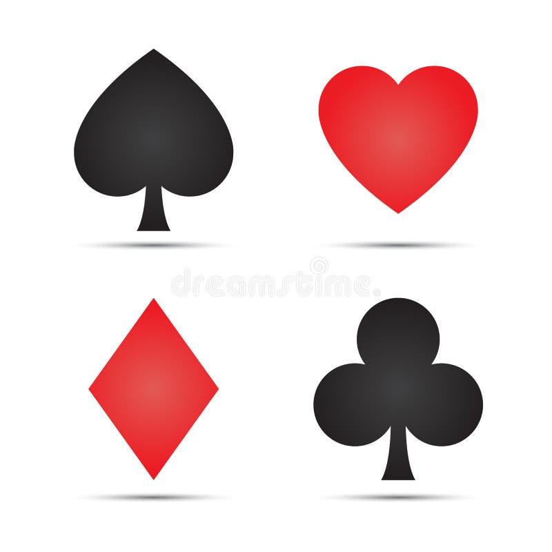 Simboli della carta da gioco illustrazione di stock
