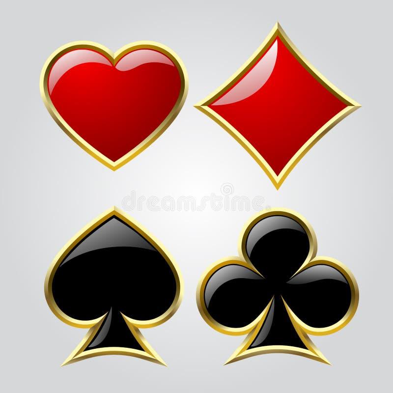 Simboli della carta da gioco illustrazione vettoriale