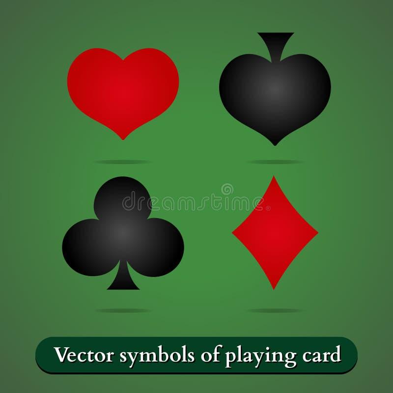 Simboli della carta da gioco di vettore illustrazione vettoriale